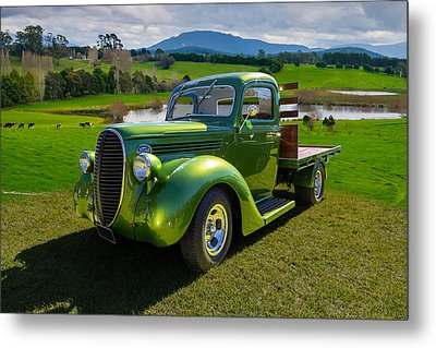 Ford Barrel Nose Pickup Metal Print by Keith Hawley