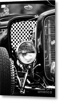 Ford Dragster Monochrome Metal Print