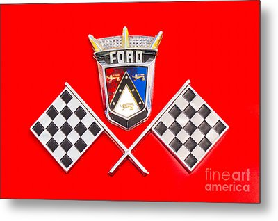 Ford Emblem Metal Print by Jerry Fornarotto