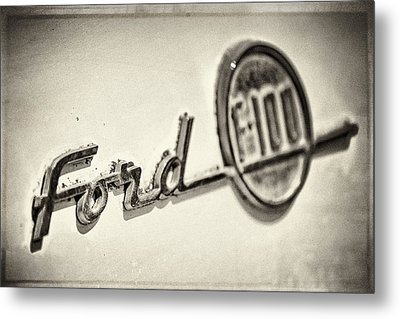 Ford F-100 Metal Print by Caitlyn  Grasso