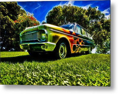 Ford Falcon Station Wagon Metal Print by motography aka Phil Clark