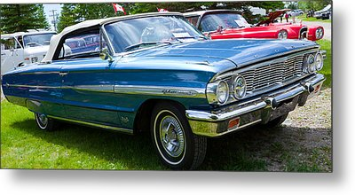Metal Print featuring the photograph Ford Galaxie 520 Xl by Mick Flynn