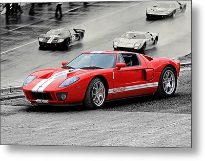 Ford Gt And Gt40 1966 Le Mans Win Metal Print by Christopher McKenzie