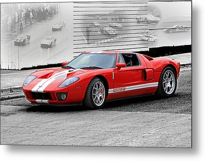 Ford Gt And Gt40 Memories Metal Print by Christopher McKenzie