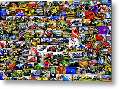 Ford Hot Rod Collage Metal Print by motography aka Phil Clark