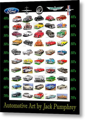 Four Decades Of Fords Poster Metal Print