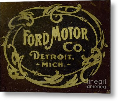 Ford Motor Company Metal Print by David Millenheft