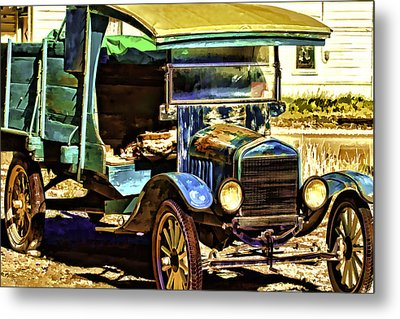 Metal Print featuring the painting Ford by Muhie Kanawati