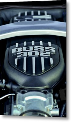 Ford Mustang Boss 302 Engine Metal Print by Jill Reger