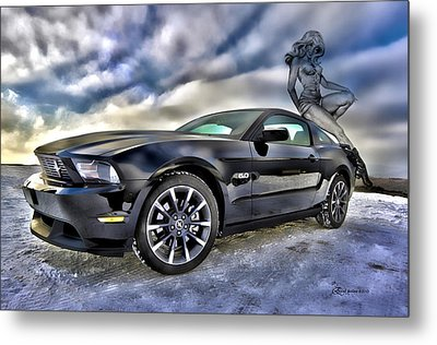 Ford Mustang - Featured In Vehicle Eenthusiast Group Metal Print by EricaMaxine  Price