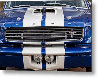 Ford Mustang Grille Emblem Metal Print by Jill Reger