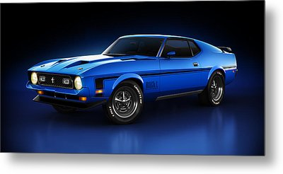 Ford Mustang Mach 1 - Slipstream Metal Print by Marc Orphanos
