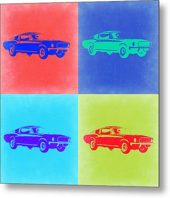 Ford Mustang Pop Art 2 Metal Print