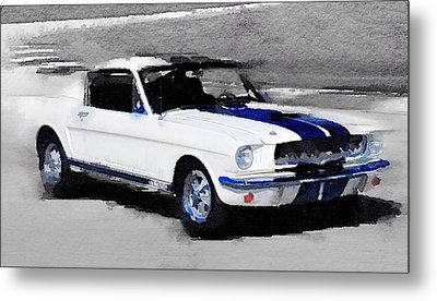 Ford Mustang Shelby Watercolor Metal Print by Naxart Studio