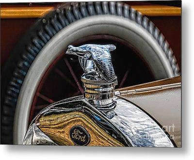 Ford Quail Radiator Cap Metal Print