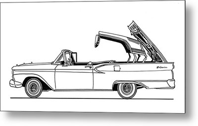 Retractable Ford Top Going Down Metal Print