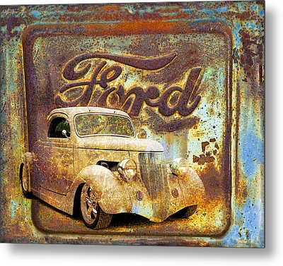 Ford Coupe Rust Metal Print by Steve McKinzie