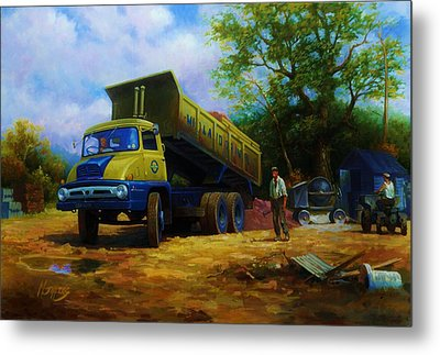 Ford Thames Trader Metal Print by Mike  Jeffries