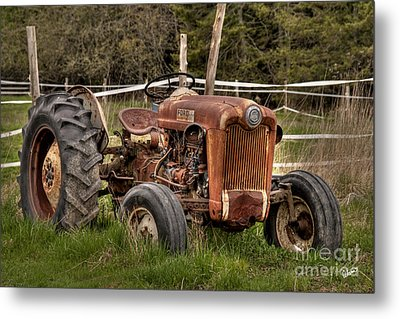 Ford Tractor Metal Print by Alana Ranney
