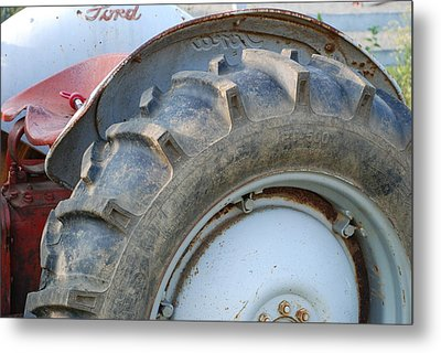 Ford Tractor Metal Print by Jennifer Ancker
