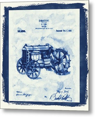 Ford Tractor Patent Metal Print
