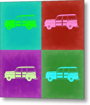 Ford Woody Pop Art  Metal Print by Naxart Studio