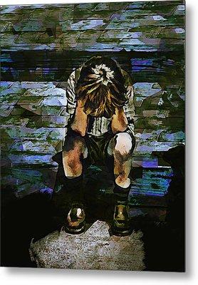 Forecast - Portrait Of A Sad Boy Metal Print