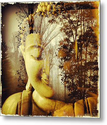 Forest Buddha Metal Print by Paul Cutright