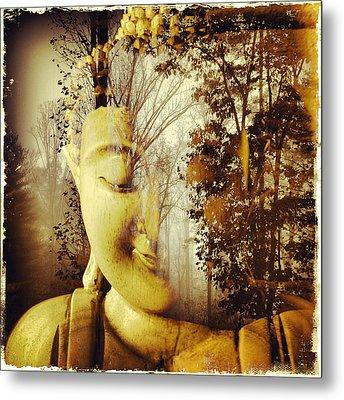 Forest Buddha Metal Print