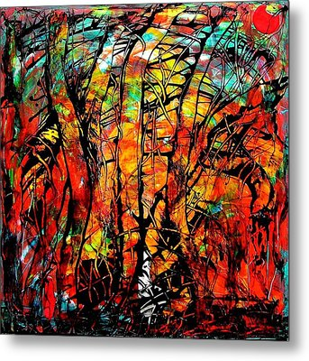 Metal Print featuring the painting Forest by Carolyn Repka