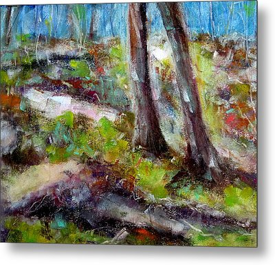 Metal Print featuring the painting Forest Carpet by Katie Black