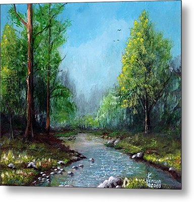 Metal Print featuring the mixed media Forest Creek by Kenny Henson