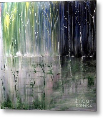 Forest Curtain Metal Print