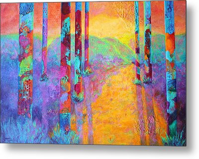 Forest Fantasy Metal Print by Nancy Jolley