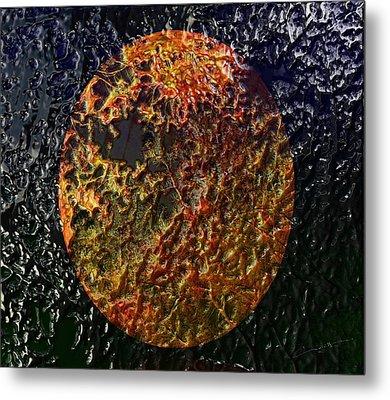 Forest Fireball Metal Print