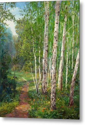 Russian Forest Footpath Metal Print