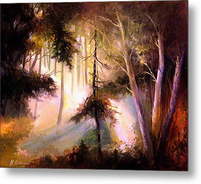 Forest Forest Forest Metal Print by Mikhail Savchenko