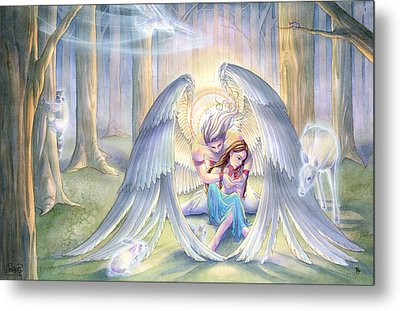 Forest Guardian Metal Print by Sara Burrier