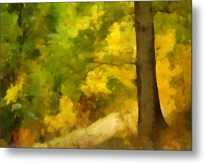 Autumn Forest Impression Metal Print