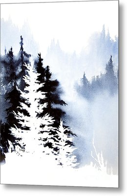 Forest Indigo Metal Print by Teresa Ascone