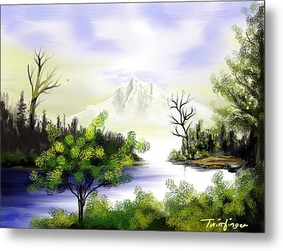 Forest Lake Metal Print by Twinfinger