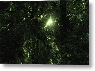 Metal Print featuring the digital art Forest Light by GJ Blackman