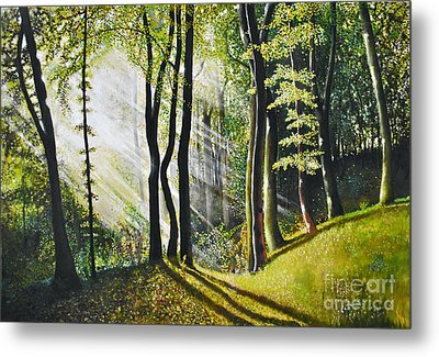 Forest Oil Painting Metal Print