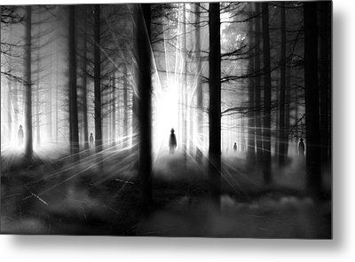 Metal Print featuring the photograph Forest... by Mariusz Zawadzki