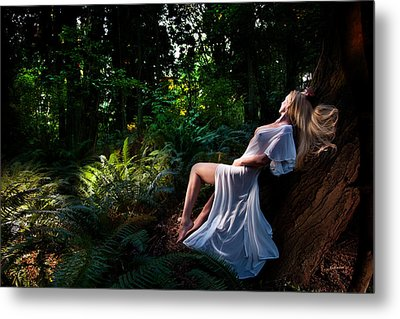 Forest Nymph 3 Metal Print by Dario Infini