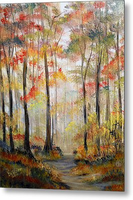 Forest Path Metal Print by Dorothy Maier