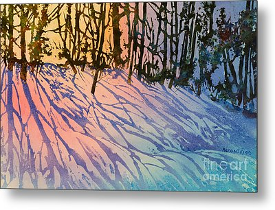 Forest Silhouettes Metal Print by Teresa Ascone
