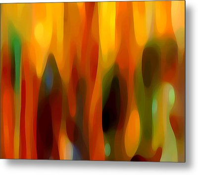 Forest Sunlight Horizontal Metal Print by Amy Vangsgard