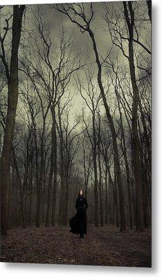 Forest Witch Metal Print by Cambion Art