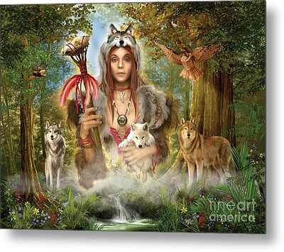 Forest Wolves Metal Print by Ciro Marchetti